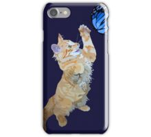 Kitten hunts butterfly iPhone Case/Skin