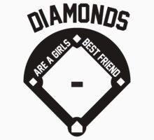 DIAMONDS ARE A GIRLS BEST FRIEND (VINTAGE BASEBALL) by Alan Craker