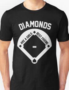 DIAMONDS ARE A GIRLS BEST FRIEND (VINTAGE BASEBALL) Unisex T-Shirt