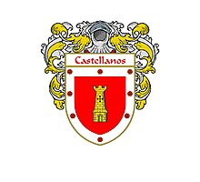 Castellanos Coat of Arms/Family Crest Photographic Print