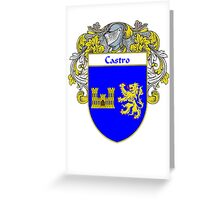 Castro Coat of Arms/Family Crest Greeting Card