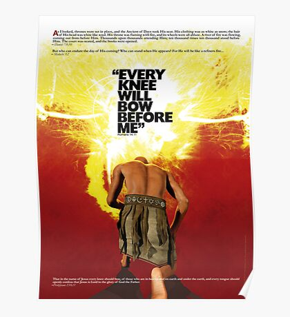 Every Knee Will Bow Before Me Poster