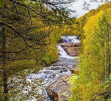 Triple Falls in Fall Colors by PaulWilkinson