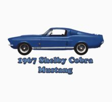 1967  Shelby Cobra  Mustang GT 500 (t-shirt) by Walter Colvin