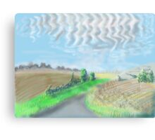 Mackerel sky on September morning in the countryside in England Canvas Print