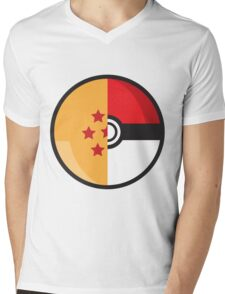 PokeDragonBall Mens V-Neck T-Shirt