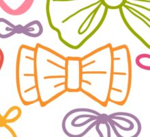 Colorful bows pattern Sticker