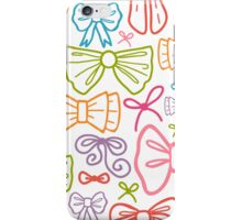 Colorful bows pattern iPhone Case/Skin