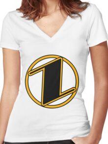 Zenith Comics Shield Women's Fitted V-Neck T-Shirt
