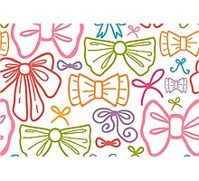 Colorful bows pattern Photographic Print