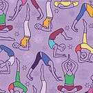Yoga poses pattern by oksancia