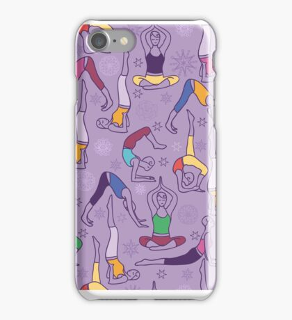 Yoga poses pattern iPhone Case/Skin