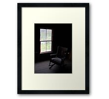 Empty Chair in Attic Framed Print