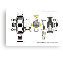 Lamborghini Countach Toy Car by Burago Metal Print