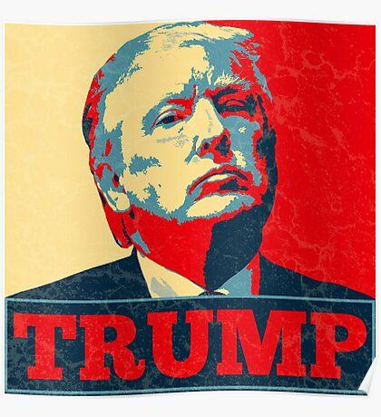 Vote TRUMP - Donald Trump in 2016 - Shepard Fairey Style - Make America Great Again Poster