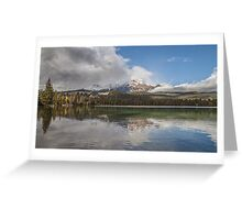 Lake Annette  Jasper National Park Greeting Card