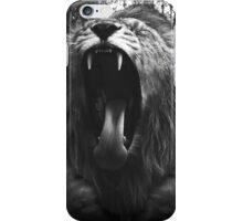 Lion Man - Black & White - Collage iPhone Case/Skin