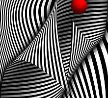 Abstract - Catch the red ball by Mike  Savad