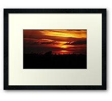 Sunset Del Rey Framed Print