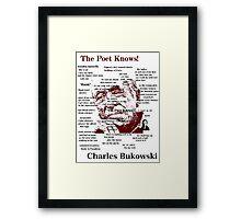 Charles Bukowski Framed Print