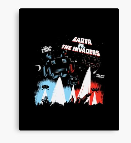 Earth vs. The Invaders Canvas Print