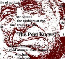 Charles Bukowski Sticker