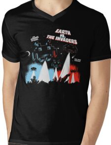 Earth vs. The Invaders Mens V-Neck T-Shirt