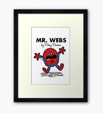 Mr Webs Framed Print