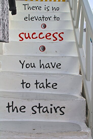 Message on the Stairs by Barbara  Brown
