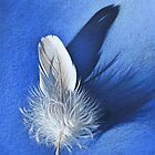White on blue by Elena Kolotusha