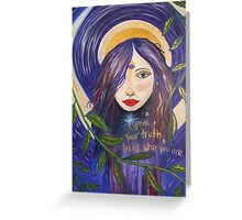 speak your truth Greeting Card