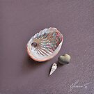 Still life with shells by Elena Kolotusha