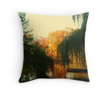 On Golden Pond, Sleepy Hollow New York, USA Throw Pillow