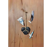 Trompe L'oeil - How to Draw a Blue Bird Photographic Print