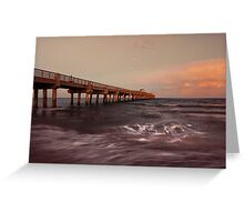 Lake Worth Pier Greeting Card