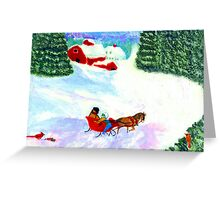 A One-Horse-Open Sleigh (For My Dad) Greeting Card