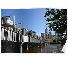 Melbourne morning - Sandridge Bridge Poster