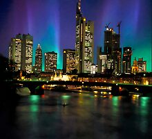 Northern Lights Hit Frankfurt (square) by BrianJoseph