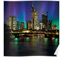 Northern Lights Hit Frankfurt (square) Poster