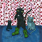 Vegetarian cats by MaryMcCrazy