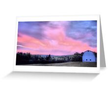Day Turns To Night Greeting Card