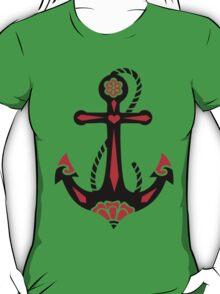 Anchor & Sacred Rose, Symbol Hope, Faith & Love T-Shirt