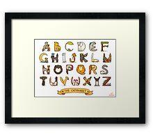 Cat Alphabet Framed Print