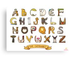 Cat Alphabet Canvas Print