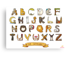 Cat Alphabet Canvas Print