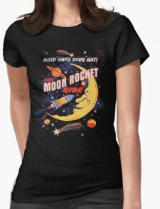Rocket Moon Ride (vintage) Womens Fitted T-Shirt
