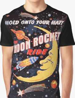 Rocket Moon Ride (vintage) Graphic T-Shirt
