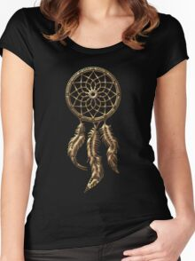 Dreamcatcher, Native Indians, protection Women's Fitted Scoop T-Shirt