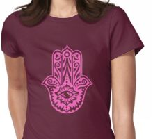 Hamsa - Hand of Fatima, protection symbol Womens Fitted T-Shirt