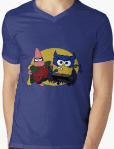 Bob Square Bats & Patrick Mens V-Neck T-Shirt